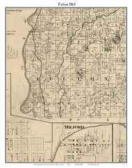 Fulton, Indiana 1865 Old Town Map Custom Print - Fountain Co.