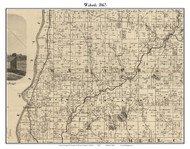 Wabash, Indiana 1865 Old Town Map Custom Print - Fountain Co.