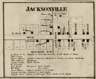 Jacksonville Village, Jackson, Indiana 1865 Old Town Map Custom Print - Fountain Co.