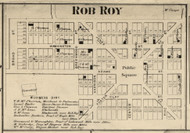 Rob Roy Village, Shawnee, Indiana 1865 Old Town Map Custom Print - Fountain Co.