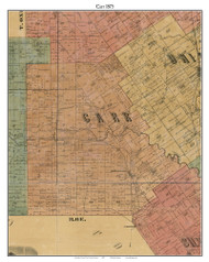 Carr, Indiana 1875 Old Town Map Custom Print - Clark Co.
