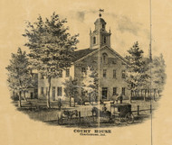 Court House, Charlestown, Indiana 1875 Old Town Map Custom Print - Clark Co.