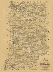 State Map, Indiana, Indiana 1875 Old Town Map Custom Print - Clark Co.