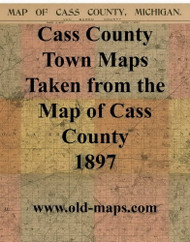 Map Cartouche, Cass Co. Michigan 1897 Old Town Map Custom Print - Cass Co.