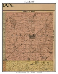 Marcellus, Michigan 1897 Old Town Map Custom Print - Cass Co.
