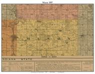 Mason, Michigan 1897 Old Town Map Custom Print - Cass Co.