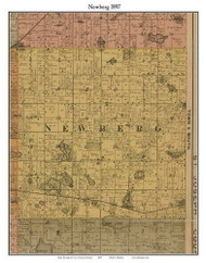 Newburg, Michigan 1897 Old Town Map Custom Print - Cass Co.