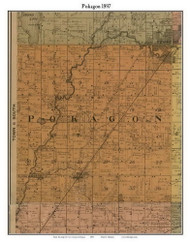 Pokagon, Michigan 1897 Old Town Map Custom Print - Cass Co.