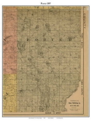 Porter, Michigan 1897 Old Town Map Custom Print - Cass Co.