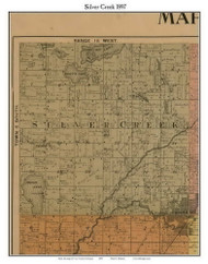 Silver Creek, Michigan 1897 Old Town Map Custom Print - Cass Co.