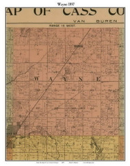 Wayne, Michigan 1897 Old Town Map Custom Print - Cass Co.