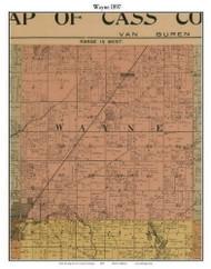Wayne, Michigan 1897 Old Town Map Custom Print - Cass Co.