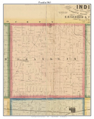 Franklin, DeKalb Co. Indiana 1863 Old Town Map Custom Print - DeKalb Co.