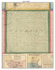 Jackson, DeKalb Co. Indiana 1863 Old Town Map Custom Print - DeKalb Co.