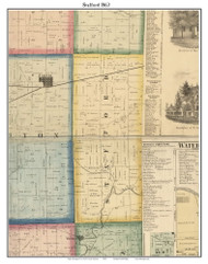 Stafford, DeKalb Co. Indiana 1863 Old Town Map Custom Print - DeKalb Co.