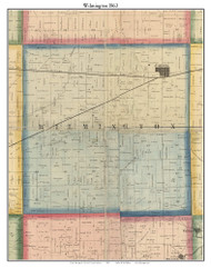 Wilmington, DeKalb Co. Indiana 1863 Old Town Map Custom Print - DeKalb Co.