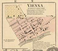 Vienna Village, Newville, DeKalb Co. Indiana 1863 Old Town Map Custom Print - DeKalb Co.