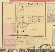 Lawrence Village, Richland, DeKalb Co. Indiana 1863 Old Town Map Custom Print - DeKalb Co.