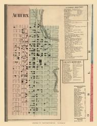 Auburn City, Union, DeKalb Co. Indiana 1863 Old Town Map Custom Print - DeKalb Co.