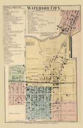 Waterloo City, Union, DeKalb Co. Indiana 1863 Old Town Map Custom Print - DeKalb Co.