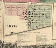 Jarvis Village, Wilmington, DeKalb Co. Indiana 1863 Old Town Map Custom Print - DeKalb Co.