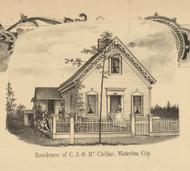McClellan Residence, Waterloo City, Union, DeKalb Co. Indiana 1863 Old Town Map Custom Print - DeKalb Co.