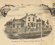 Stough Residence, Waterloo City, Union, DeKalb Co. Indiana 1863 Old Town Map Custom Print - DeKalb Co.