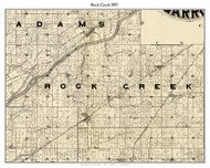 Rock Creet, Indiana 1897 Old Town Map Custom Print - Carroll Co.