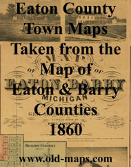 Map Cartouche, Eaton Co. Michigan 1860 Old Town Map Custom Print - Eaton Co.
