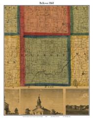 Bellevue, Michigan 1860 Old Town Map Custom Print - Eaton Co.