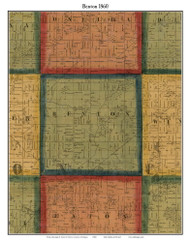 Benton, Michigan 1860 Old Town Map Custom Print - Eaton Co.