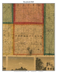 Brookfield, Michigan 1860 Old Town Map Custom Print - Eaton Co.
