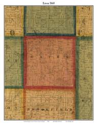 Eaton, Michigan 1860 Old Town Map Custom Print - Eaton Co.