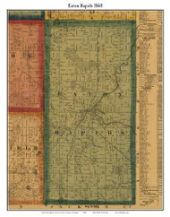 Eaton Rapids, Michigan 1860 Old Town Map Custom Print - Eaton Co.