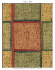 Kalamo, Michigan 1860 Old Town Map Custom Print - Eaton Co.