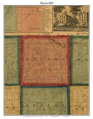 Oneida, Michigan 1860 Old Town Map Custom Print - Eaton Co.