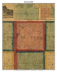 Sunfield, Michigan 1860 Old Town Map Custom Print - Eaton Co.