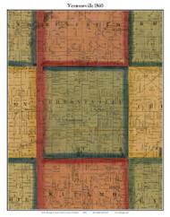 Vermontville, Michigan 1860 Old Town Map Custom Print - Eaton Co.