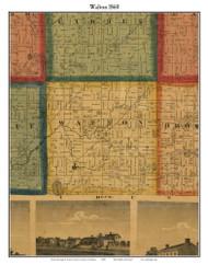 Walton, Michigan 1860 Old Town Map Custom Print - Eaton Co.