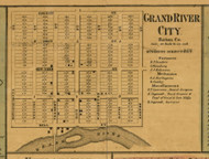 Grand River City, Michigan 1860 Old Town Map Custom Print - Eaton Co.