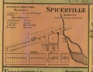 Spicerville, Michigan 1860 Old Town Map Custom Print - Eaton Co.