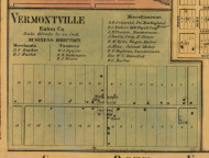 Vermointville Village, Michigan 1860 Old Town Map Custom Print - Eaton Co.