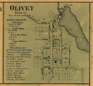 Olivet, Michigan 1860 Old Town Map Custom Print - Eaton Co.