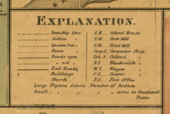 Explanation, Michigan 1860 Old Town Map Custom Print - Eaton Co.