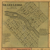 Grand Ledge, Michigan 1860 Old Town Map Custom Print - Eaton Co.