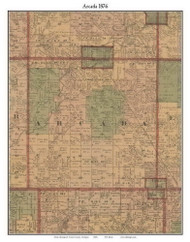 Arcada, Michigan 1876 Old Town Map Custom Print - Gratiot Co.