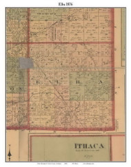 Elba, Michigan 1876 Old Town Map Custom Print - Gratiot Co.