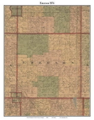 Emerson, Michigan 1876 Old Town Map Custom Print - Gratiot Co.