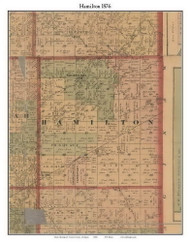 Hamilton, Michigan 1876 Old Town Map Custom Print - Gratiot Co.