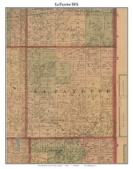 LaFayette, Michigan 1876 Old Town Map Custom Print - Gratiot Co.